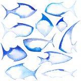 Different fish shapes Stock Images