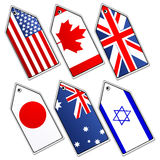 Different flags Royalty Free Stock Image