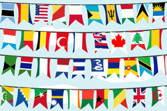 Different flags Royalty Free Stock Photo