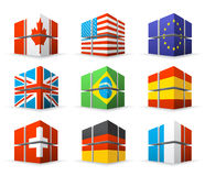 Different flags Stock Image