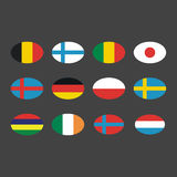 Different flags template blank vector set. Stock Photo