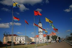 Different Flags Waving on Poles at Daytime Stock Photos