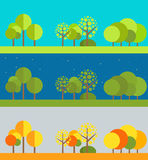 Different flat design illustrations set Royalty Free Stock Photos