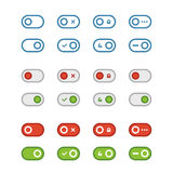 Different flat design sliders collection Stock Photo
