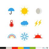 Different flat design web and application interface icons Royalty Free Stock Photos