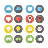 Different flat icons set Stock Photography