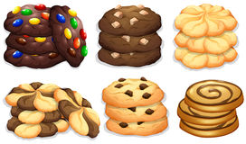 Different flavour of cookies. Illustration Royalty Free Stock Image
