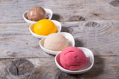 Different flavours of sorbetto Stock Images