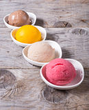 Different flavours of sorbetto Stock Photography