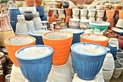 Different Flower Pots Stock Photo