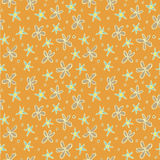 Different Flowers Seamless Pattern Stock Image