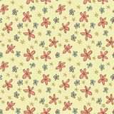 Different Flowers Seamless Pattern royalty free illustration