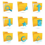 Different folders icon Stock Photography