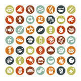 49 different food icons ALL NEW Stock Photography