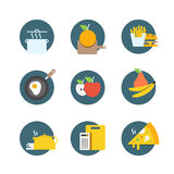 Different food icons collection Stock Photography