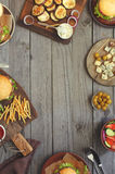 Different Food On A Wooden Table Stock Image
