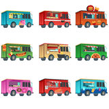 Different Food Truck Designs royalty free illustration