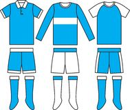Different football Soccer uniforms. Vector Royalty Free Stock Images