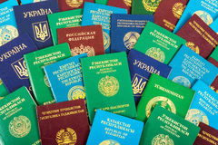 Different foreign passports as background Royalty Free Stock Images