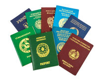 Different foreign passports Royalty Free Stock Images