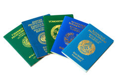 Different foreign passports Royalty Free Stock Image