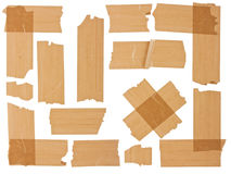 Different fragments of the brown scotch Stock Images