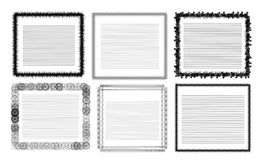Different frames for text Royalty Free Stock Photos