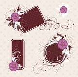 Different frames for your text. Different frames with flowers for your text Stock Images