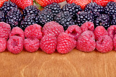 Different fresh berries Royalty Free Stock Photos