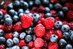 Different fresh berries as background Royalty Free Stock Photography