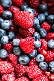 Different fresh berries as background Stock Photos
