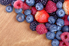 Different fresh berries as background Royalty Free Stock Photos