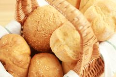 Different fresh bread loaves,. Closeup royalty free stock photography