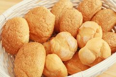 Different fresh bread loaves,. Closeup royalty free stock photo