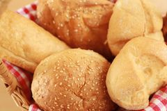 Different fresh bread loaves. Closeup royalty free stock photography