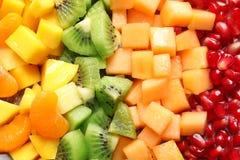 Different fresh cut fruits. Closeup stock image