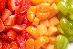 Different fresh cut fruits. Closeup royalty free stock photo