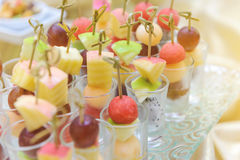 Different fresh fruit arranged Royalty Free Stock Images