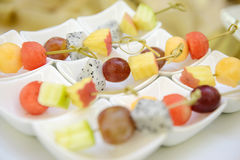 Different fresh fruit arranged Royalty Free Stock Image