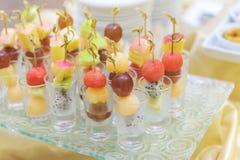 Different fresh fruit arranged Royalty Free Stock Photo