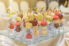 Different fresh fruit arranged Royalty Free Stock Photos