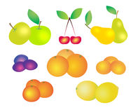 Different fresh fruit. Large group of different fresh fruit royalty free illustration