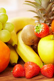 Different fresh fruits Stock Images