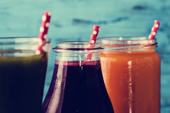 Different fresh smoothies Royalty Free Stock Images