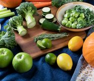 Different fresh vegetables and fruits Royalty Free Stock Image