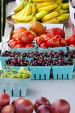 Fruit Baskets Farmers Market stock photography