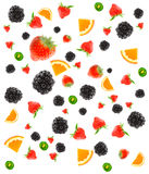 Different fruit and berries Royalty Free Stock Photos