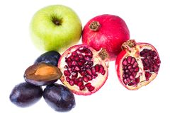 Different fruit for juice or drink stock photography