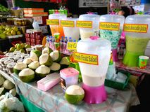 Different fruit juice and refreshments in Market Market in Bonifacio Global City Stock Images