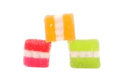 Different fruit-paste candies. Stock Image